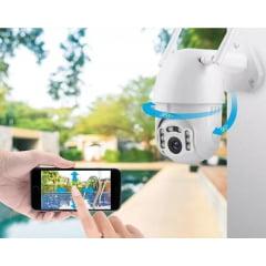 Câmera speed dome ip wi-fi infra vermelho externo alta definição 360 Graus Zoom 4x Hd - Detecção de face V-307 (WN)
