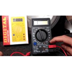 Multímetro Digital Profissional Com Cabo Teste Portátil