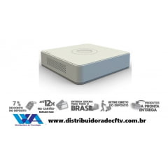 Nvr para câmera de cftv e segurança hikvision ds-7104NI-Q1/4p/M -  4 canais suporta até - até 4 megapixel