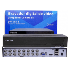 DVR IT-BLUE 5WP 1080P FULLHD 16CANAIS it-blue