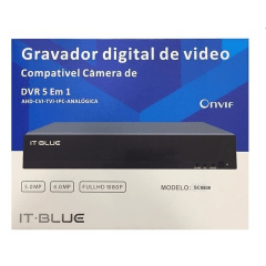 DVR IT-BLUE 5WP 1080P FULLHD 8 CANAIS