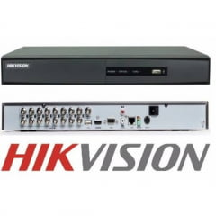 Dvr Stand alone Hikvision DS-7216HGHI-F1/N Turbo HD 16 Canais 1080N/720p, H.264, 5 em 1, 2 Canais Ip