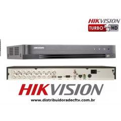 Gravador digital Dvr Stand hikvision DS-7216HQHI-K1- P  16 Canais Digital Turbo 5 em 1 h.265