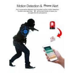 Refletor E Câmera Ip Wi-fi Acesso Remoto Detecção Movimento