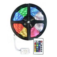 Fita de LED 3528 RGB + Controle com silicone a prova de agua