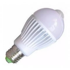 Lâmpada Bulbo Led 7w C/ Sensor Presença Branco Bivolt