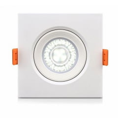 Lâmpada Direcionável Spot Super Led THS cob 5w branco frio moldura quadrada Embutir Redondo