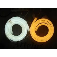 Mangueira Fita Led Neon 110v 12w Rolo 100 Metros branco frio