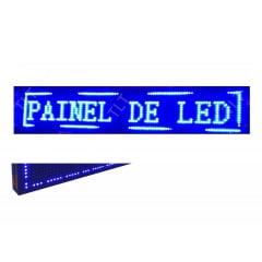 Painel de led Letreiro a led Azul 130X20 interno