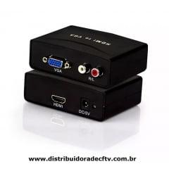 ADAPTADOR DE VGA PARA HDMI CONVERSOR EXBOM