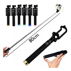 Bastao de Selfie Monopod Preto fosco cores variadas