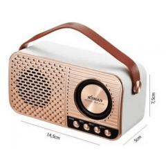 Caixa De Som Retro Xtrad Bluetooth Tf Usb Fm Ws-3138 Branco