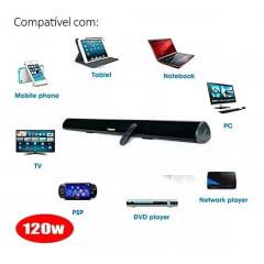 Caixa Som Sound Bar Tv C Bluetooth 80w Tomate Mts-2016