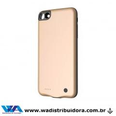 Capa Carregadora Baseus Geshion para Iphone 7/8 2500mah Dourado - Original + nota fiscal