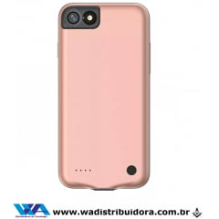 Capa Carregadora Baseus Geshion para Iphone 7/8 2500mah Rose - Original + nota fiscal