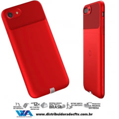 Capa para Carregamento Sem Fio Baseus Wireless Iphone 7 Vermelho