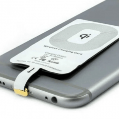 Kit Carregador e Receptor Wireless QI para iPhone