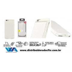 Capa Carregadora Baseus Plaid para Iphone 6/6s Plus 3650mah Branco