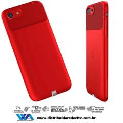 Capa para Carregamento Sem Fio Baseus Wireless Iphone 7 Plus Vermelho