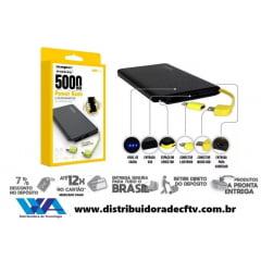Encontre aqui em nossa loja virtual Power Bank Pineng 5.000 Mah Slim Original Universal