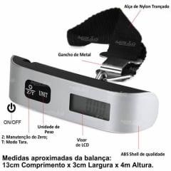 Balança Digital Portátil para Bagagem até 50 Kg - STC-04