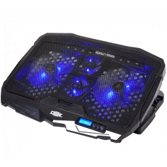 Base Cooler com LED Suporte para Notebook 17 Gamer 4 Coolers - DX-006