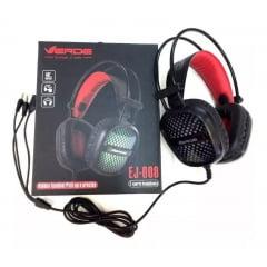 Fone De Ouvido Headset Gamer Com Microfone E Led Ej 008