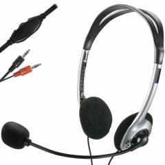 Fone de Ouvido Headset Stereo Com Fio 32 Ohms Preto P2 Multilaser - Ph002