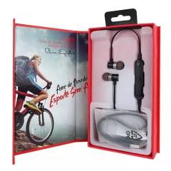 Fone De Ouvido Sem Fio Bluetooth Para Esporte Academia Lc116