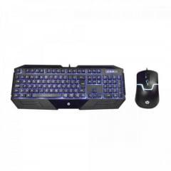 Kit Teclado e Mouse USB GK1100 Preto HP