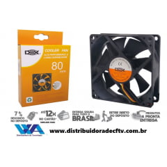 Cooler Fan Para Gabinete Dex 80×80 mm DX 8C