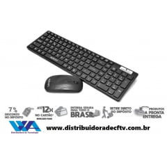 Kit Teclado e Mouse Sem Fio Exbom BK-S1000/S1100