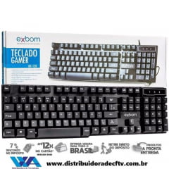 TECLADO USB GAMER SEMI MECANICO KB-150 EXBOM