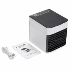 Mini Climatizador de Ar e Ventilador Portátil Com 3 Velocidades - 1800 8