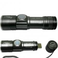 Mini Lanterna LED Alumínio USB