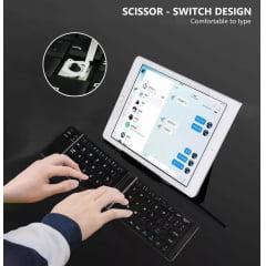 Mini Teclado Dobrável Bluetooth Sem Fio Slim Usb Smartphone