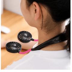 Mini Ventilador de Pescoço Duplo com Aromatizador EXBOM - V2
