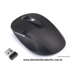 Mouse Wireless Sem Fio 2.4ghz Usb Alcance 2m Notebook Pc