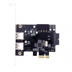 Placa PCI-E 2* USB 3.0 + 19 Pinos Dex - DP-23
