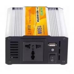 Inversor de Voltagem 150W Potência Real 100W DC 12 volts - 110V - 60Hz