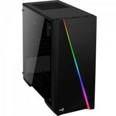 Gabinete Gamer Mini Tower RGB Mini Cylon Preto AEROCOOL