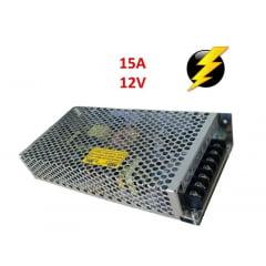 Fonte de alimentação 12 Volts 15 Amper Colméia para led, segurança, cftv, fita led e som automotivo