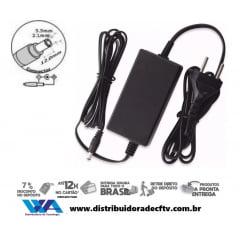 Fonte de Alimentação 12 volts 3 amper plástico - Cftv - Lampada led - Segurança