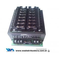 Fonte de Alimentação chaveada especial para segurança e cftv 12 volts 10 amper entrada para 16 câmera com fusível e borne steel i-099bf