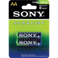 Pilha sony alcalina AA AM3L-B2D blister com 2 unidades