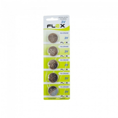 Bateria de Lítio 3V - CR2450 Cartela com 5 unidades Flex