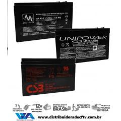 Bateria Selada 12 volts 7 amper para Alarmes - Cftv - Cerca elétrica - Nobreak em geral