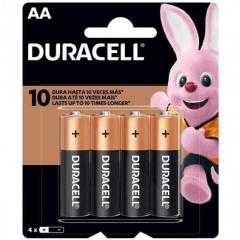 Pilha Alcalina Duracell - 4 unidades AA