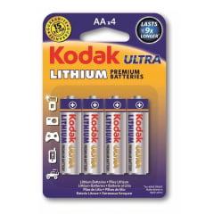 Pilha Kodak Lithium Aa C/ 4
