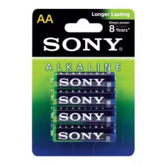 Pilha sony alcalina AA AM3L-B4D blister com 4 unidades
